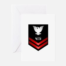 Navy PO2 Equipment Operator Greeting Cards (Pk of