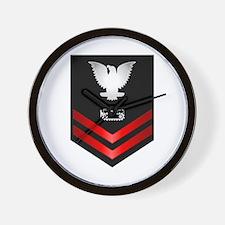 Navy PO2 Equipment Operator Wall Clock
