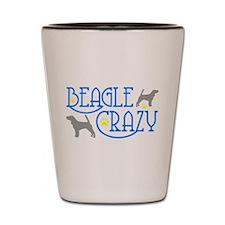 BEAGLE CRAZY Shot Glass
