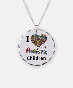 Autistic Children Necklace Circle Charm