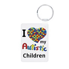 Autistic Children Aluminum Photo Keychain