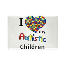 Autistic Children Rectangle Magnet
