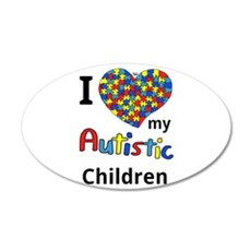 Autistic Children 20x12 Oval Wall Decal