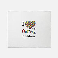 Autistic Children Throw Blanket