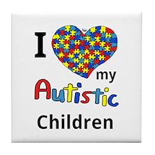 Autistic Children Tile Coaster