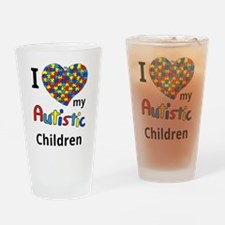Autistic Children Drinking Glass