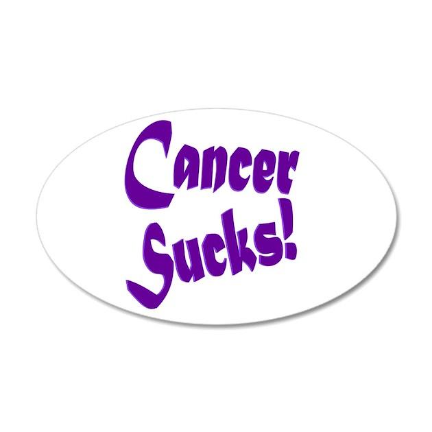 Cancer Sucks Purple Wall Decal By Happydragonart