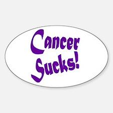 Cancer Sucks Purple! Sticker (Oval)