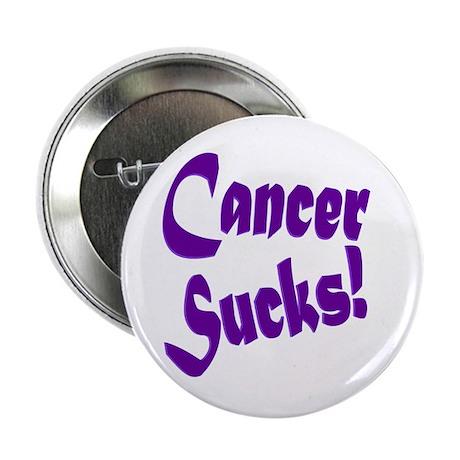 """Cancer Sucks Purple! 2.25"""" Button (100 pack)"""
