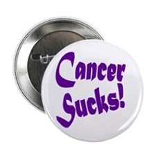"Cancer Sucks Purple! 2.25"" Button"