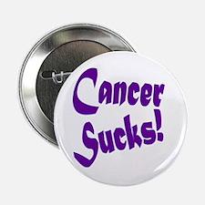 """Cancer Sucks Purple! 2.25"""" Button"""