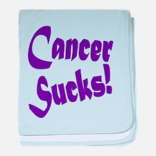 Cancer Sucks Purple! baby blanket