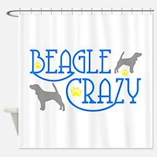 BEAGLE CRAZY Shower Curtain