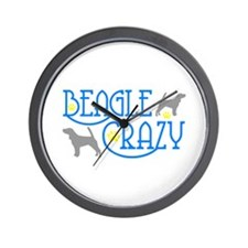 BEAGLE CRAZY Wall Clock