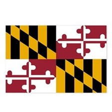 Maryland State Flag Postcards (Package of 8)