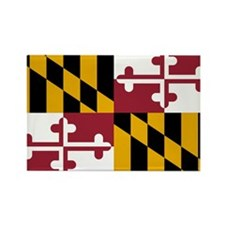 Maryland State Flag Rectangle Magnet