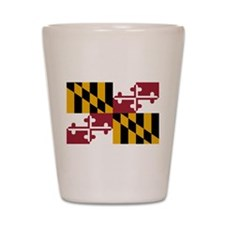 Maryland State Flag Shot Glass