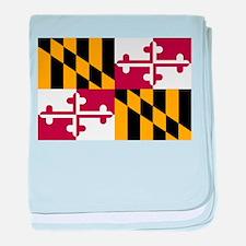 Maryland State Flag baby blanket