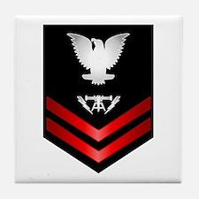 Navy PO2 Fire Controlman Tile Coaster