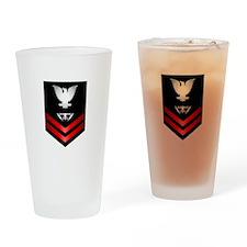 Navy PO2 Fire Controlman Drinking Glass