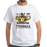 White T-Shirt featuring Banana Triangle