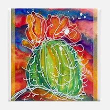 Cactus, Southwest art! Tile Coaster