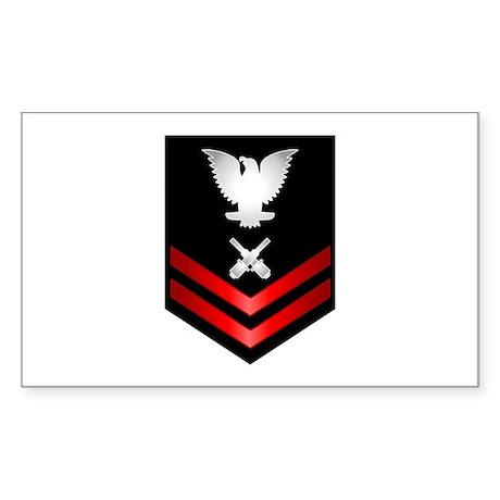 Navy PO2 Gunner's Mate Sticker (Rectangle)