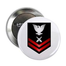 "Navy PO2 Gunner's Mate 2.25"" Button"