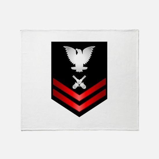 Navy PO2 Gunner's Mate Throw Blanket