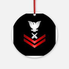 Navy PO2 Gunner's Mate Ornament (Round)