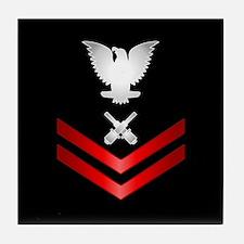 Navy PO2 Gunner's Mate Tile Coaster