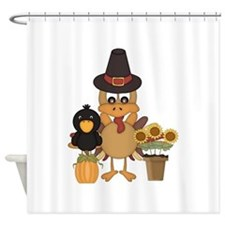 Thanksgiving Friends Shower Curtain