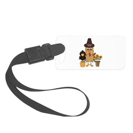 Thanksgiving Friends Small Luggage Tag