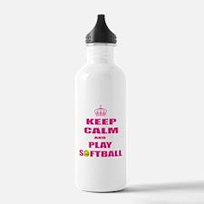 Girls Softball Water Bottle
