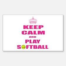 Girls Softball Decal