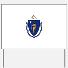 Massachusetts State Flag Yard Sign