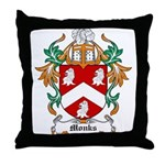 Monks Coat of Arms Throw Pillow
