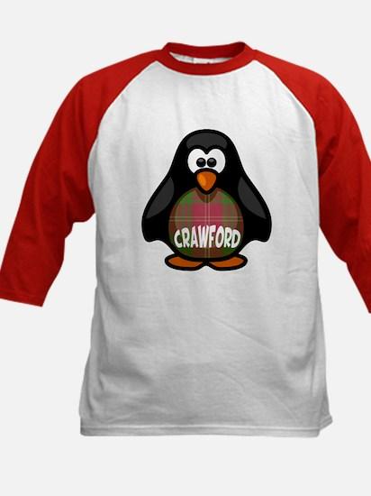 Crawford Tartan Penguin Kids Baseball Jersey
