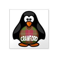 "Crawford Tartan Penguin Square Sticker 3"" x 3"""