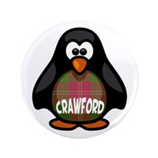 "Crawford Tartan Penguin 3.5"" Button"
