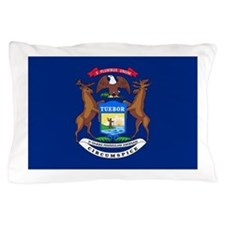 Michigan State Flag Pillow Case