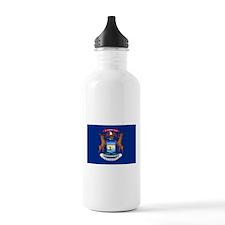 Michigan State Flag Water Bottle