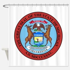Michigan State Seal Shower Curtain