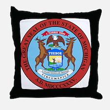 Michigan State Seal Throw Pillow