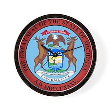 Michigan State Seal Wall Clock