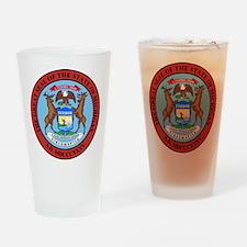 Michigan State Seal Drinking Glass