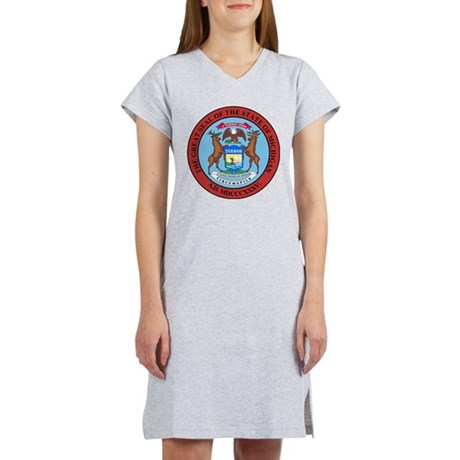 Michigan State Seal Women's Nightshirt