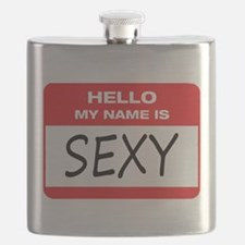 Sexy Name Tag Flask
