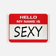 Sexy Name Tag Rectangle Magnet