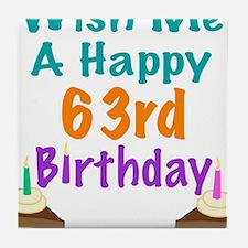Wish me a happy 63rd Birthday Tile Coaster